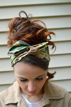 Multicam Scorpion Camouflage Dolly bow, head band, hair accessory made with the latest Army fabric. Sewn folded about 33 1/2 long with wiring inside