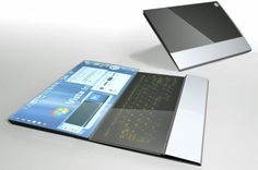 Next Generation Laptop - OLED touchscreen with a 2nd slide-out touchscreen for a keyboard