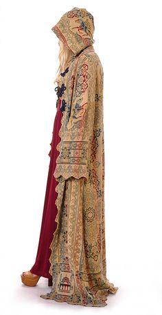 Original Cotton Tapestry Ritual Cloak | Damsel Vintage - 70s Vintage Fashion