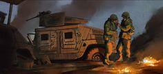 ArtStation - military vehicles, Alexandre Pinto Military Vehicles, Artworks, War, Painting, Army Vehicles, Art Pieces, Painting Art, Paintings, Painted Canvas