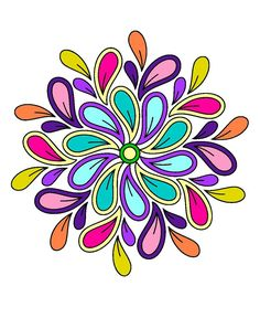 Mandala Doodle, Mandala Drawing, Mandala Painting, Fabric Painting, Quilling Patterns, Stencil Patterns, Doodle Patterns, Embroidery Patterns, Flower Art Drawing