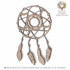 Detailed dream catcher template for laser cutting. Dream Catcher Vector, Hoop Dreams, Dreams And Nightmares, Dream Catchers, Mandala Design, Vector Pattern, Laser Cutting, Mother Day Gifts, Free Design