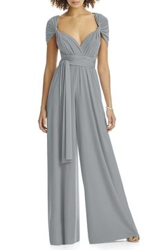 Chic Dessy Collection Convertible Wide Leg Jersey Jumpsuit (Regular Plus) Dresses. [$160] ideasyoulove from top store
