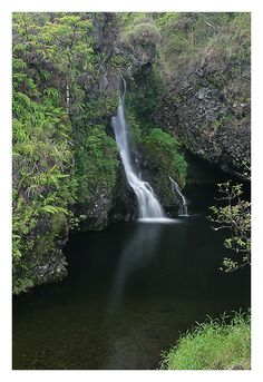The Road to Hana, Maui, Hawaii. Lovely place to go, the waterfalls are gorgeous.