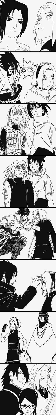 Sasuke and Sakura sasusaku