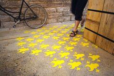 GROUND BY stencils designed by Aya Kakeda of Mr. & Mr., photo © Alexis Lautier / Mr. & Mr.