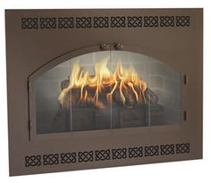 The Legend ZC Deluxe (Covers up your metal firebox for a custom look) Fireplace Glass Doors, Hermosa Beach, Fireplace Accessories, Home Improvement, Custom Design, Cover, Styles, Metal, Unique