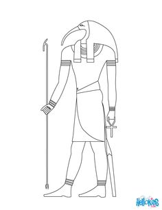 Thot Egyptian goddess & gods Coloring Page