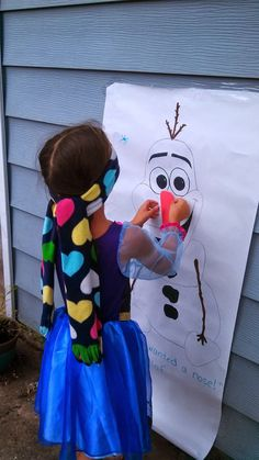 Disney Frozen Party Ideas - Pin the Nose on Olaf Mom on the Move