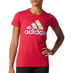 b4c382ac3529 adidas Women s Badge Of Sport Mesh Foil T-Shirt