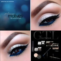 """Check out the final look of this stunning """"Pop of Blue"""" look created by #MotivesMaven Ely Marinousing ALL Motives Cosmetics! Get the products used: -Motives Eye Shadow Base -Motives Pressed Eye Shadow in """"Blizzard"""" -Motives Beauty Weapon Palette -Motives Pressed Eye Shadow in """"Chocolight"""" -Motives Luxe Precision Eye Line -Motives Khol Eyeliner in """"Electric Blue"""" -Motives for LaLa Lenghthening and Voluminizing Mascara in B"""