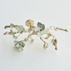 Brooch -Winter Memory Material: Enamel, sterling silver. Dimensions:  7cm x 3cm x2cm