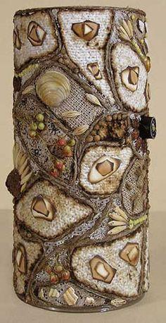 vase from your pantry Bottle Painting, Bottle Art, Bottles And Jars, Glass Jars, Decoupage Jars, Twine Crafts, Mandala Art Lesson, Wedding Glasses, Shell Crafts