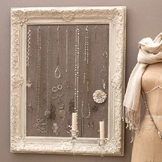 Learn how to make a jewelry holder out of a frame with our tutorial.