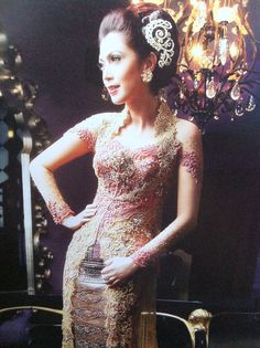 Sparks of elegance by Riny #kebaya #indonesian #modern #yellow #pink