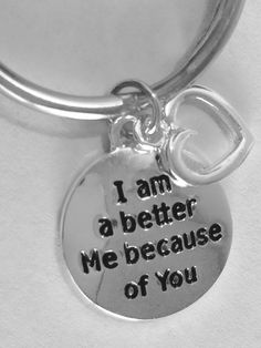 I Am A Better Me Because Of You. Necklace for wife, girlfriend, fiance' by Lexiandfriends on Etsy