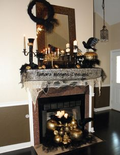 hmm good idea for halloween. could reuse thrift boughten candlesticks for christmas too! gotta love paint!
