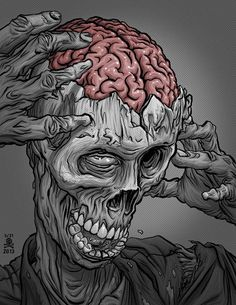 "5/31 ""It is a truth universally acknowledged that a zombie in possession of brains must be in want of more brains."" copyright 2013 mike walton"