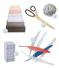Office supplies and feather pens