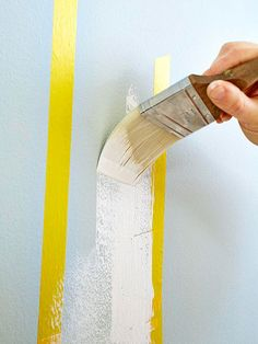 Dress up a plain wall with this simple birch tree motif. All you need is three basic supplies and paint....