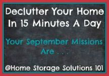 August Declutter Calendar: 15 Minute Daily Missions For Month