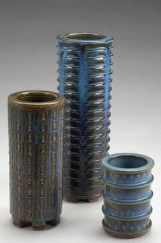 Wilhelm Kåge (Swedish, 1889-1960) Gustavsberg Studio, Glaze Decorated Stoneware.