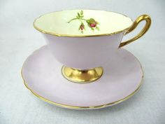 SHELLEY-CUP-AND-SAUCER-GAINSBOROUGH-SHAPE-ENGLISH-ROSE-13640-S20