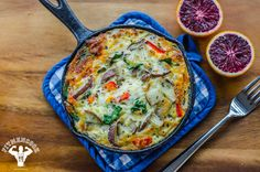 """Leftovers"" Hearty Breakfast Frittata - no stove, all oven - fit men cook"