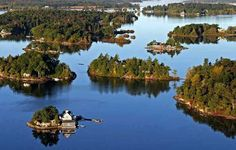 1000 Islands - The collection of small islands are nestled in the St. Lawrence river between the U.S.~Canadian border. Their actual number is 1,793.