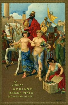 Porto Ramos Pinto Vintage Wine, Vintage Ads, Portugal, Wine Poster, Posters Vintage, Port Wine, Decoupage Vintage, Wine Art, Old Ads