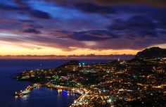 Baia do Funchal Funchal, Portugal, Trips, River, Celestial, Spaces, Sunset, World, Outdoor