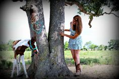 Baby horse and her proud owner :) These are her Senior Portraits.