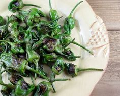 Recipe for padron peppers. Love these, not spicy but flavorful.