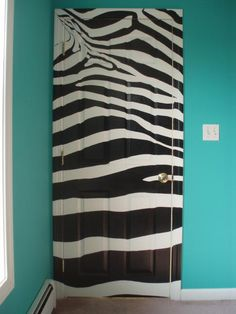Zebra Stripe Mural - Door Number 2 Painting by Sean Connolly - Zebra Stripe Mural - Door Number 2 Fine Art Prints and Posters for Sale
