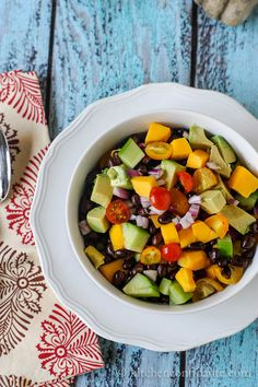 Mango & Black Bean Salad - someone brought this to a party and it was excellent - let marinate in the fridge for at least 4 hours!