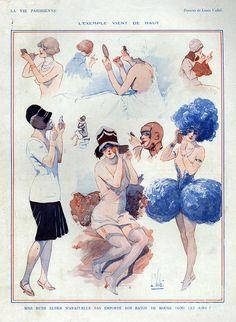 1920s France La Vie Parisienne Drawing