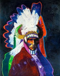 View Elote Apache By John Nieto; acrylic on canvas; 60 x 48 in; Access more artwork lots and estimated & realized auction prices on MutualArt. American Indian Art, Native American Indians, Southern Methodist University, Global Art, Native Art, Life Drawing, Art Market, Comic Art, Past