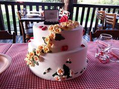 Bolo decorado - Bolo de noivado