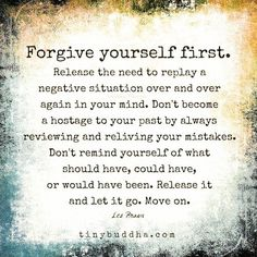 Release & forgive!  Give yourself some grace! #loveyourself #forgiveyourself #releasetheguilt #begoodtoyourself #like4like  #follow #instadaily #instaquote