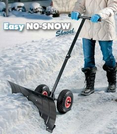 Snow Shovel With Wheels, Tractor Implements, Rustic Country Kitchens, Winter Survival, Utility Cart, How To Make Snow, Snow Plow, Outdoor Landscaping, Welding Projects