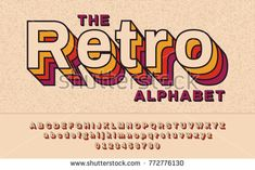 Lettering Fonts Discover Retro Font With VHS effect Vector abc alphabet - Millions of Creative Stock Photos Vectors Videos and Music Files For Your Inspiration and Projects. Calligraphy Fonts, Typography Fonts, Typography Design, 90s Design, Retro Graphic Design, Design Web, Type Design, Retro Font, Retro Logos