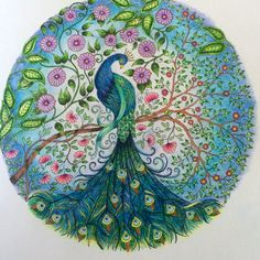 Johanna Basford Colouring Gallery Johanna Basford Which screen fits in my g… Secret Garden Coloring Book, Coloring Book Art, Colouring Pages, Paris Secret, Johanna Basford Secret Garden, Johanna Basford Coloring Book, Peacock Art, Polychromos, Color Inspiration