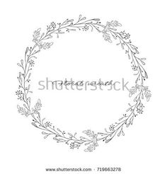 Wreath with branches and twigs