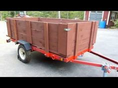 "UPDATE 1: Harbor Freight 1720 Lb. Capacity 48"" x 96"" Super Duty Utility Trailer Build Out - YouTube"