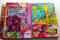 Art Journal Page by Jodi Ohl  Heart on a String                                                                                                                                                                                 More