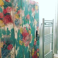Image transfer bathroom door in my Shropshire Farmhouse.