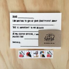 Get Heard Postcards (set of 5 with stamps)