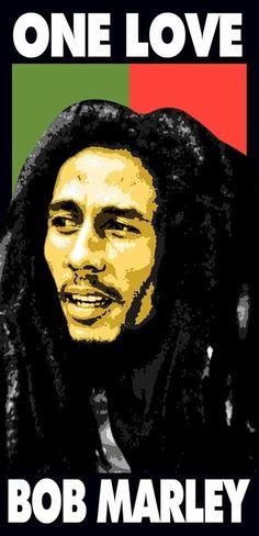 Bob Marley Reggae Boho ONE LOVE Pool Bath Velour Beach Towel (28X58) LICENSED #IslandGear