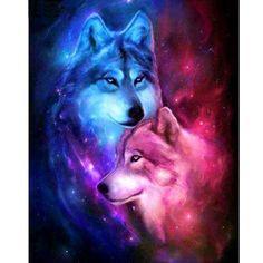 Love Wolf 5D DIY Paint By Diamond Kit