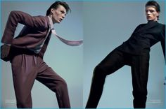 Finnlay Davis takes to the pages of L'Officiel Hommes in fine suits from Berluti and Brioni.